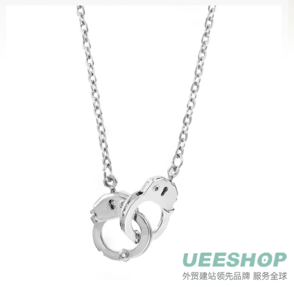 Verdie's handcuff Anklet - Silver Tone Jewelry