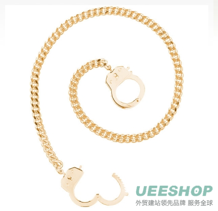 Caine's handcuff Necklace - Gold Tone