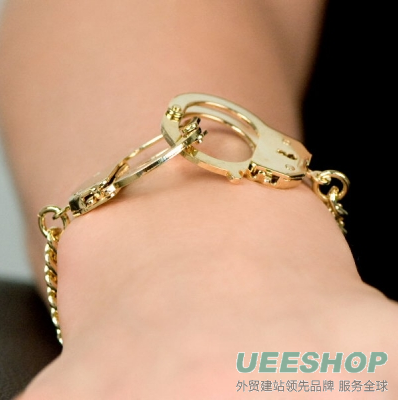 Caine's handcuff Bracelet - Gold Tone handcuff Jewellery