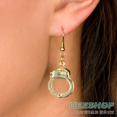 Cammy's handcuff Earrings - Gold Tone handcuff Jewellery: PETITE