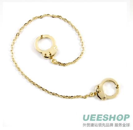 Verdie's handcuff Anklet - Gold Tone Jewellery